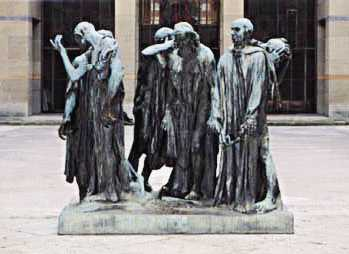 The Burghers of Calais in the Kunstmuseum Basel, bronze