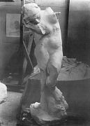 Meditation without arms, plaster. Photo: Freuler, ca. 1886