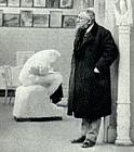 Rodin and Seated Ugolino at the Alma Pavilion, 1900